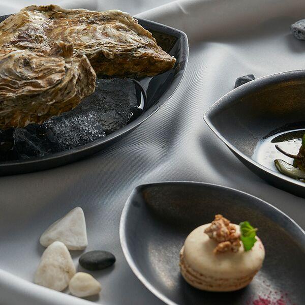 ブラックヴィンテージイノックス フィッシュプレート お皿 カフェレストラン