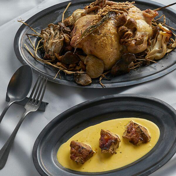 ブラックヴィンテージイノックス オーバルプレート お皿 レストラン
