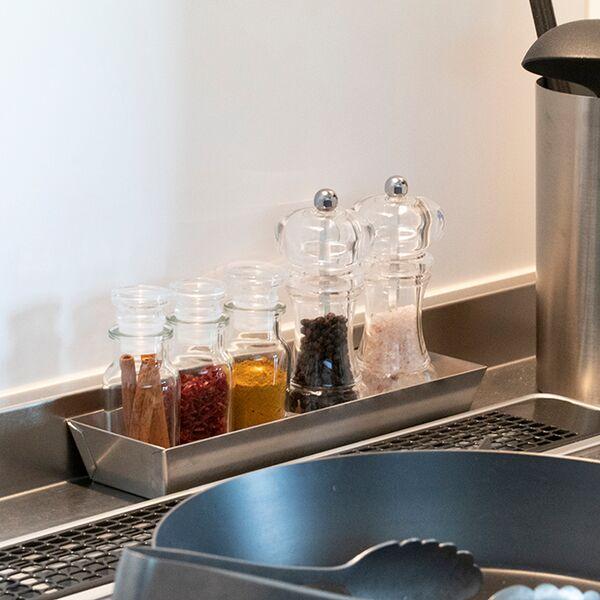 VINTAGEINOX BAR MetalTray CutleryCase SeasoningCase CafeRestaurant