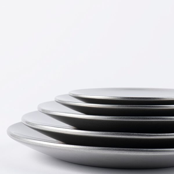 ヴィンテージイノックス バール二重プレート お皿 カフェレストラン